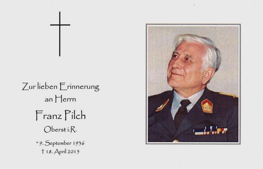 Franz Pilch 1936 - 2015