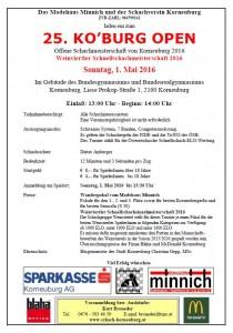 Einladung 25 KOBURG OPEN 2016