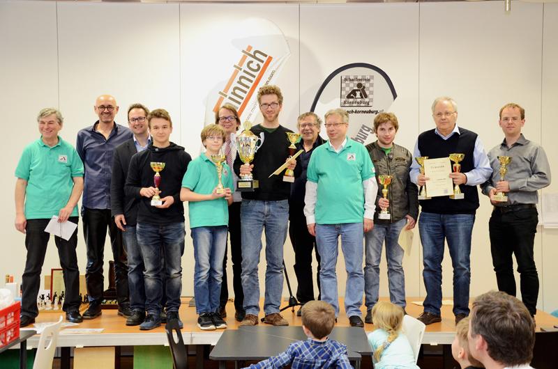 KOBURG OPEN 2017 Siegerbild - vlnr.: Moderator Alfred Pertl, Handrich Lothar (