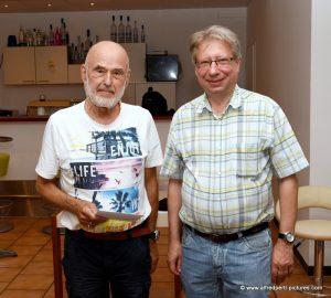 80 Geburtstag von Hubert Holzinger beim Schachverein Korneuburg mit Kurt Boneder