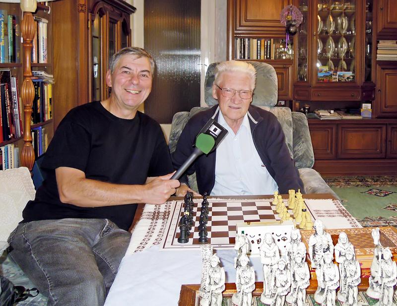 Alfred Pertl von Radio Orange mit Gerald Korostensky