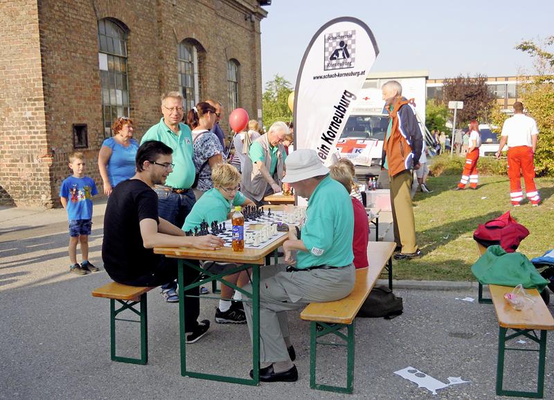 Schachverein Korneuburg am Hafenfest 2017 Foto 1