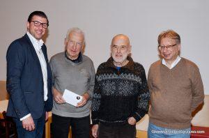 Stadtrat Martin Peterl, Franz Brandstetter, Hubert Holzinger und Kurt Broneder
