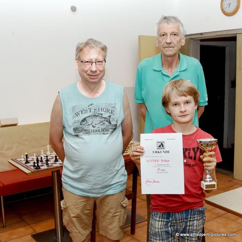 Schachverein Korneuburg - Jugendmeisterschaft 2018 - Kurt Broneder, Hans Haider und Arthur Wittek